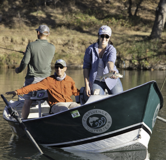 Drift Boat Trips are a great way to learn basic fly fishing skills