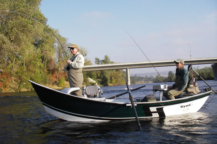 We fish the Lower Feather River from drift boats