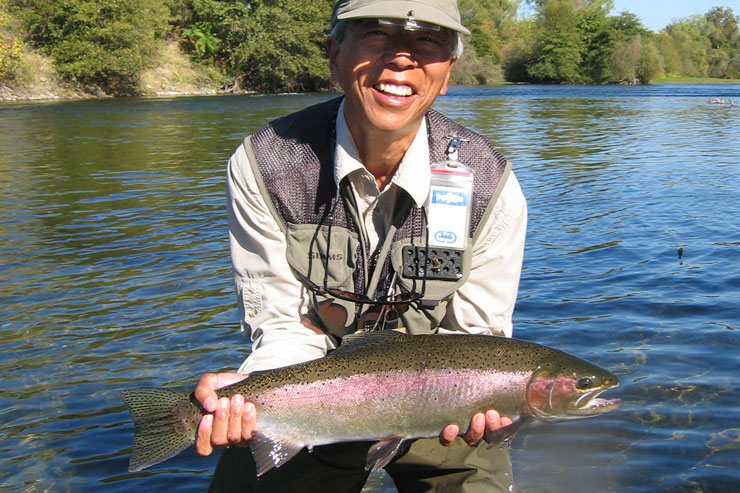 An early-season steelie on the Feather River